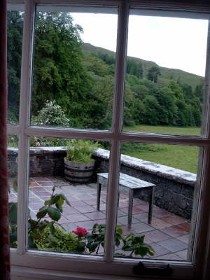 The House - drawing room window view